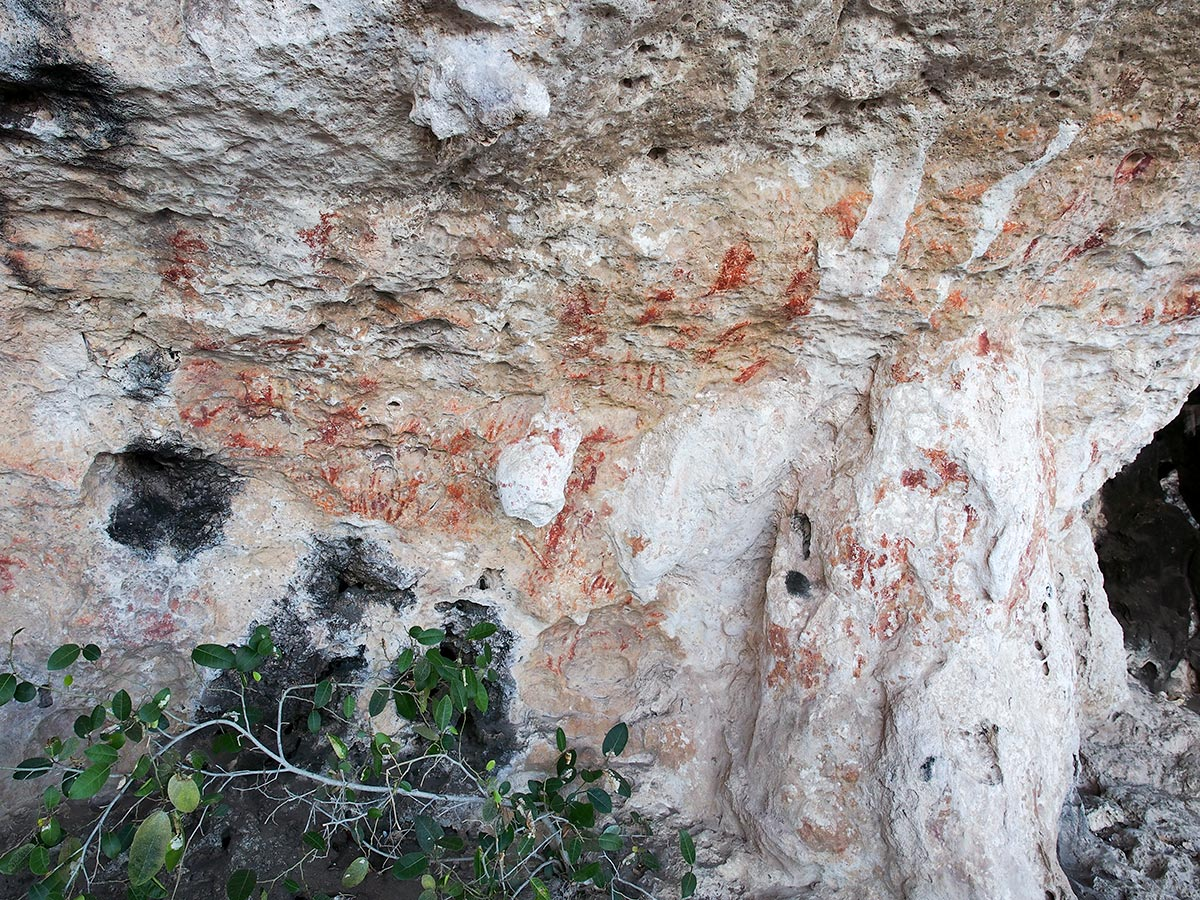 Red Hematite Painting