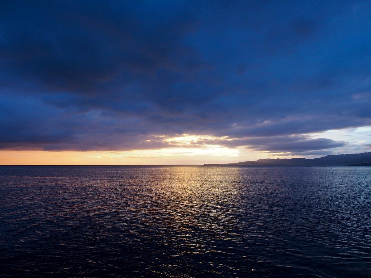 Sonnenuntergang in Anda
