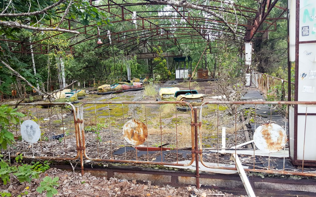 Autoscooter in Prypjat nahe Tschernobyl