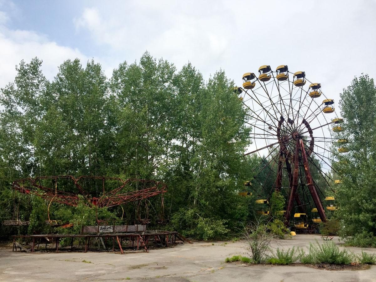 Riesenrad in Prypjat nahe Tschernobyl