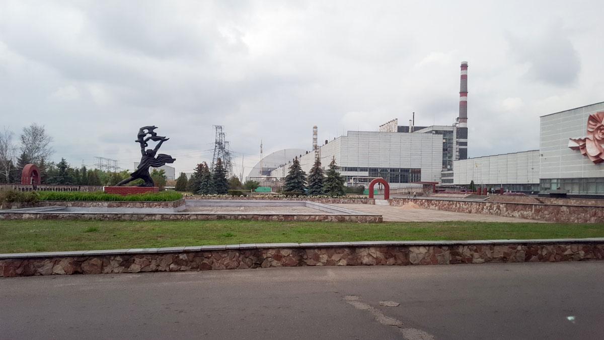 Tschernobyl, Blick auf den Kernreaktor
