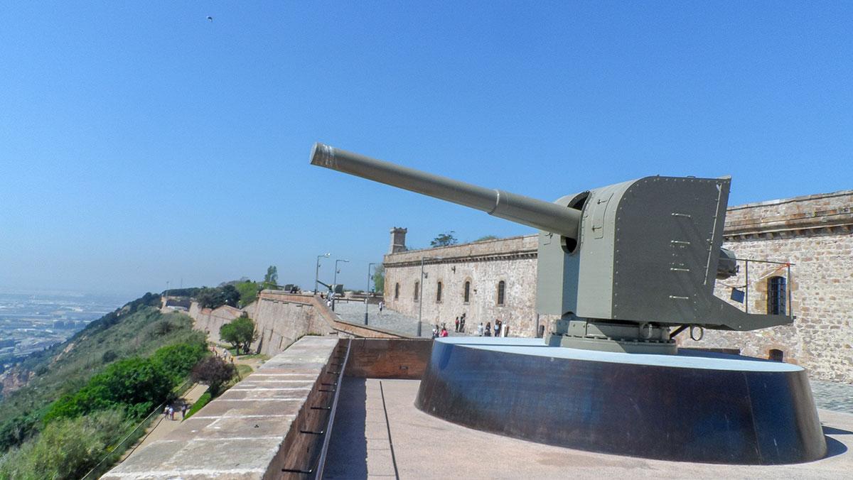 Castell de Montjuïc Kanone