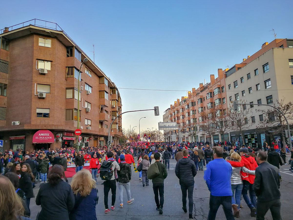 Atlético Madrid Stimmung in der Stadt