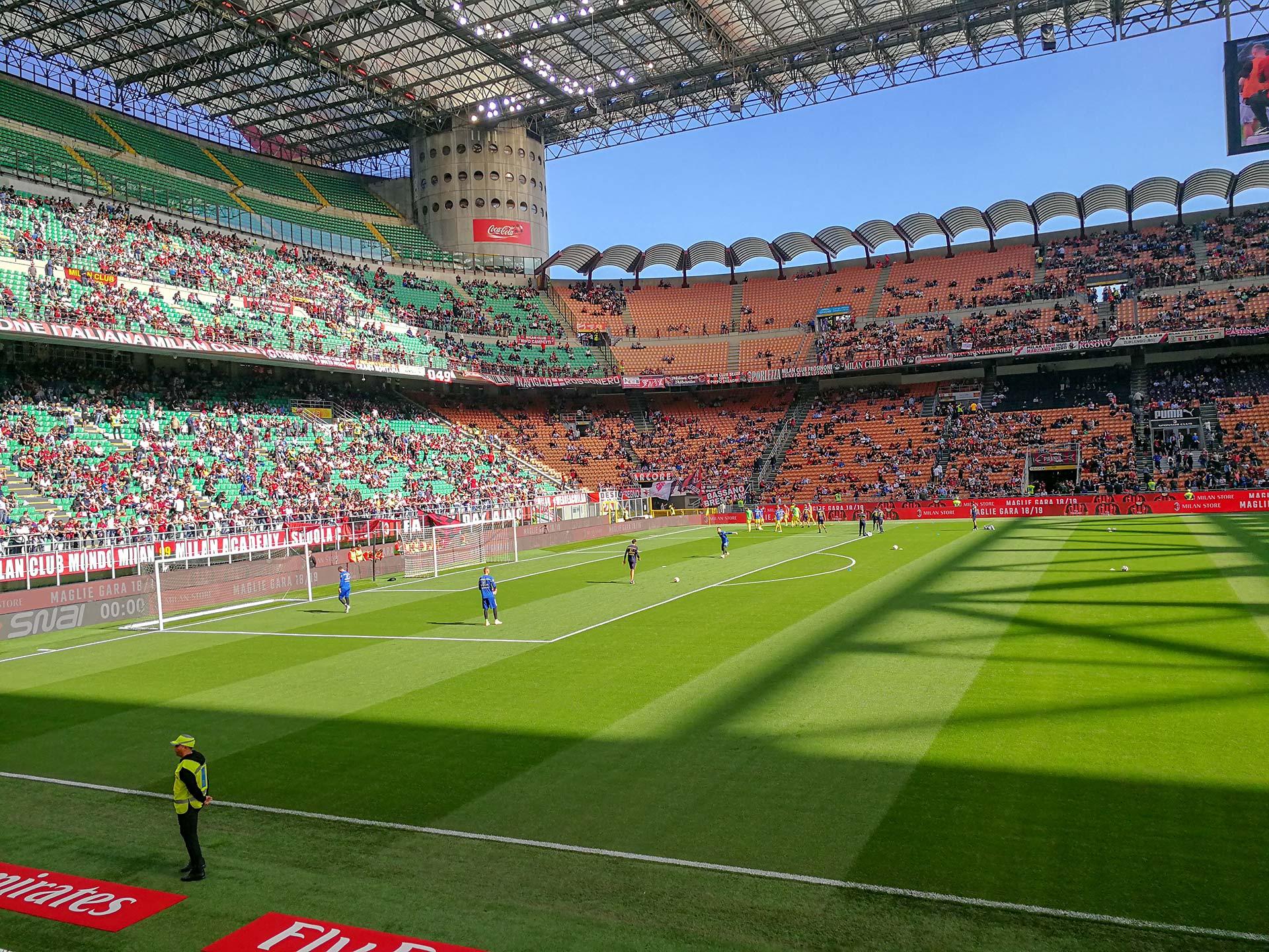 Fußballspiel AC Mailand