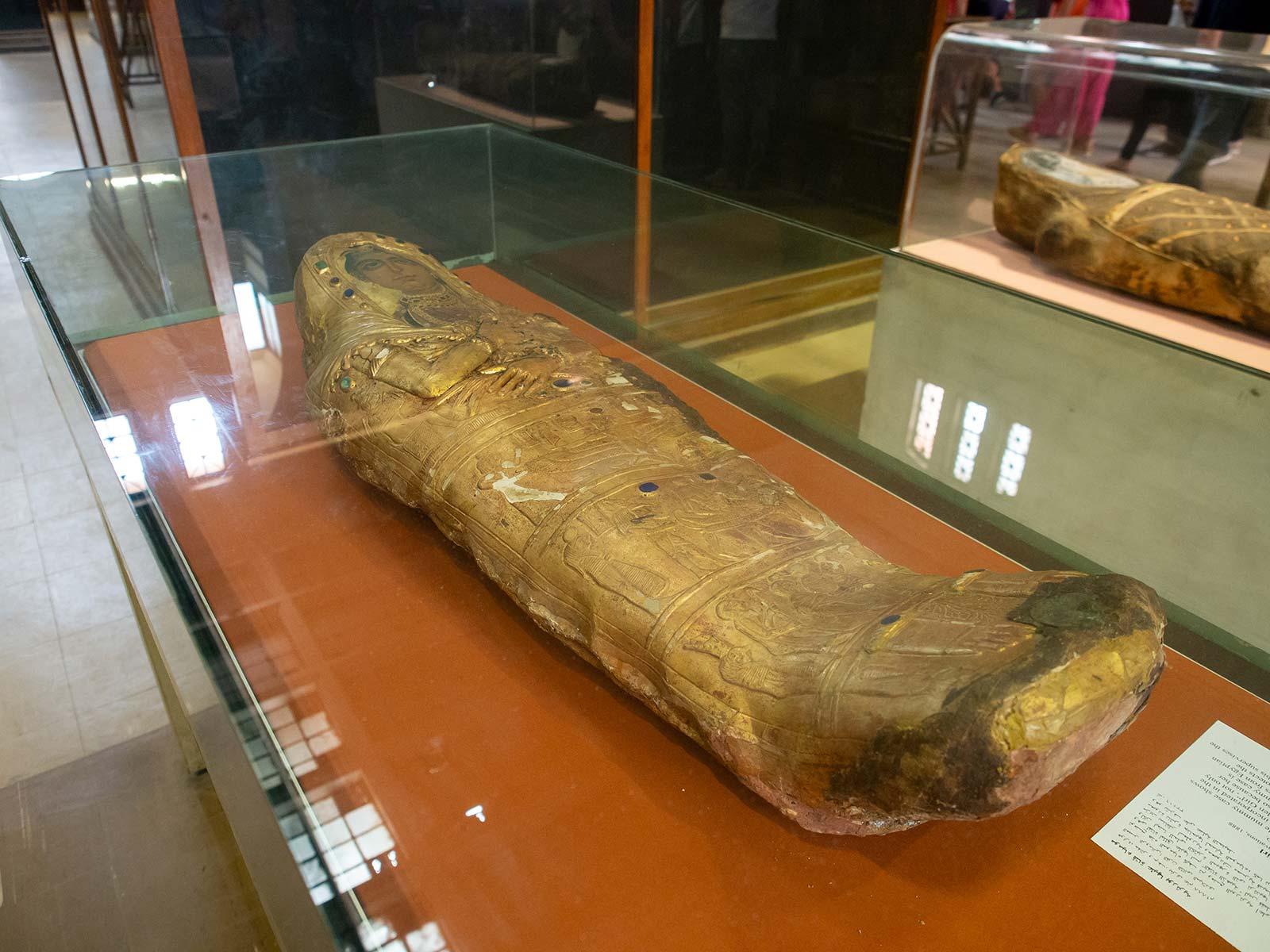 Mumie im ägyptischen Museum