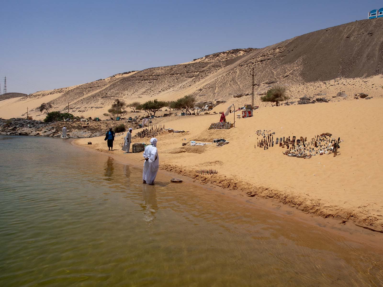 Baden am Nil in Assuan