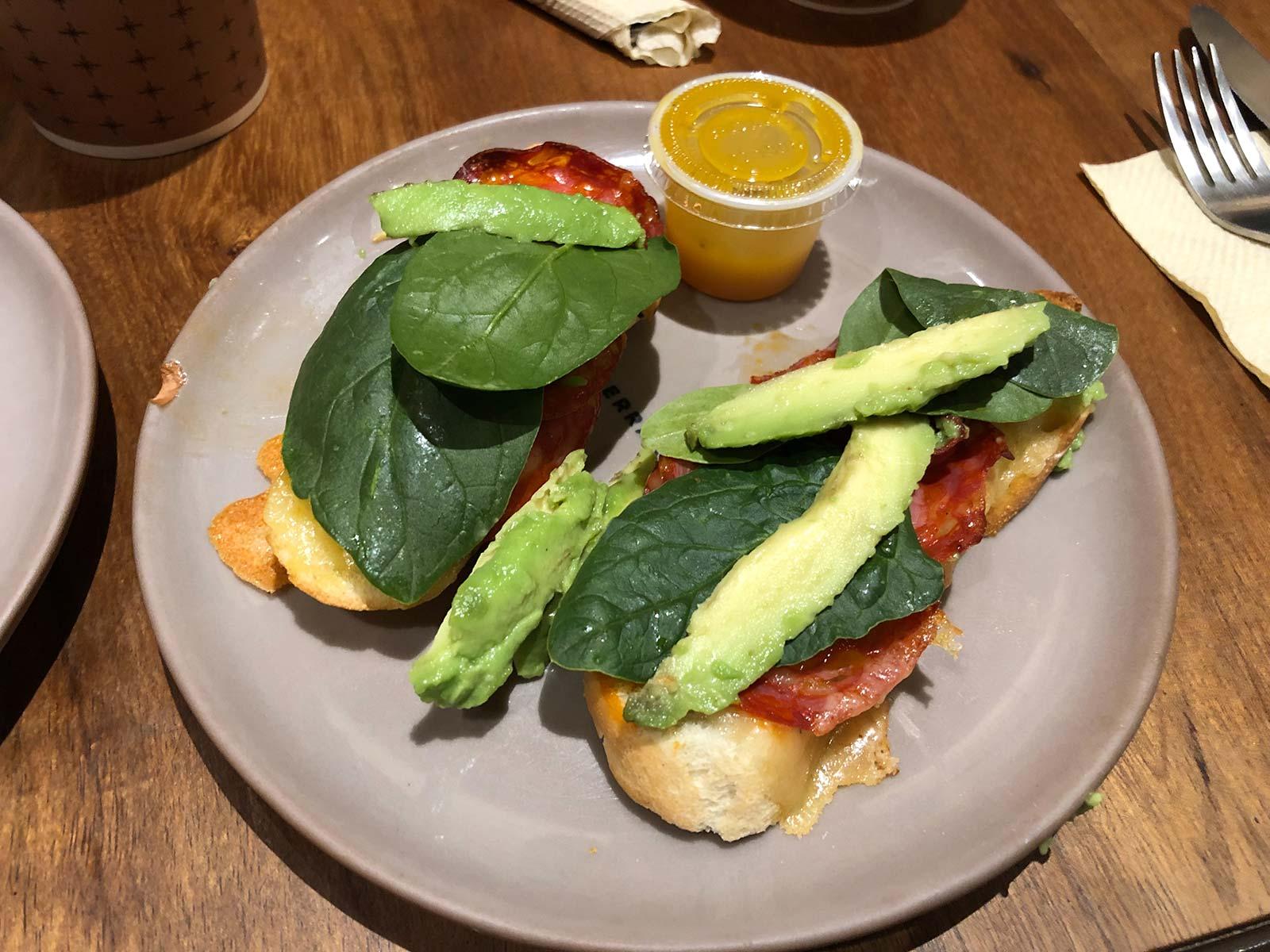 Chorizo-Avocado Sandwich