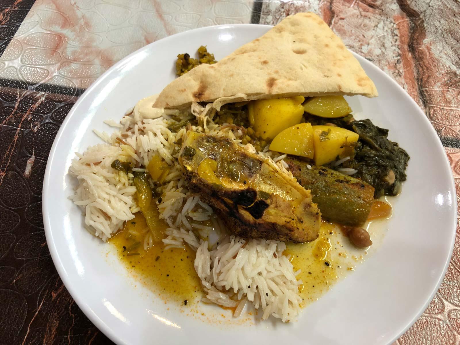 Essen in Jordanien - Hühnchen