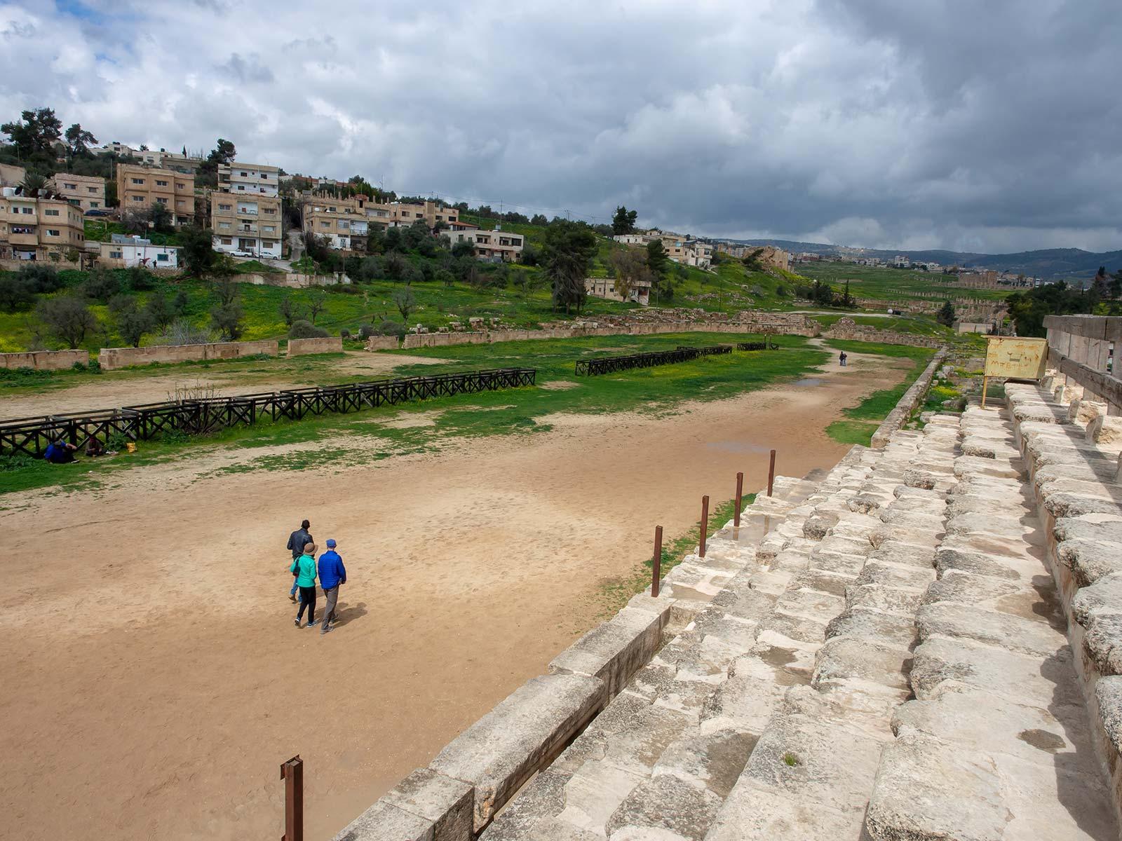 Jerash Hippodrom Pferderennen