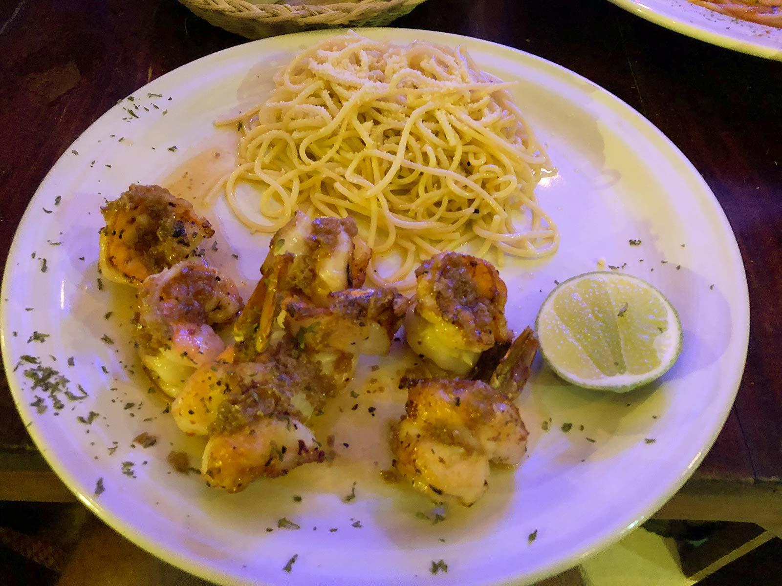 Shrimps auf Holbox