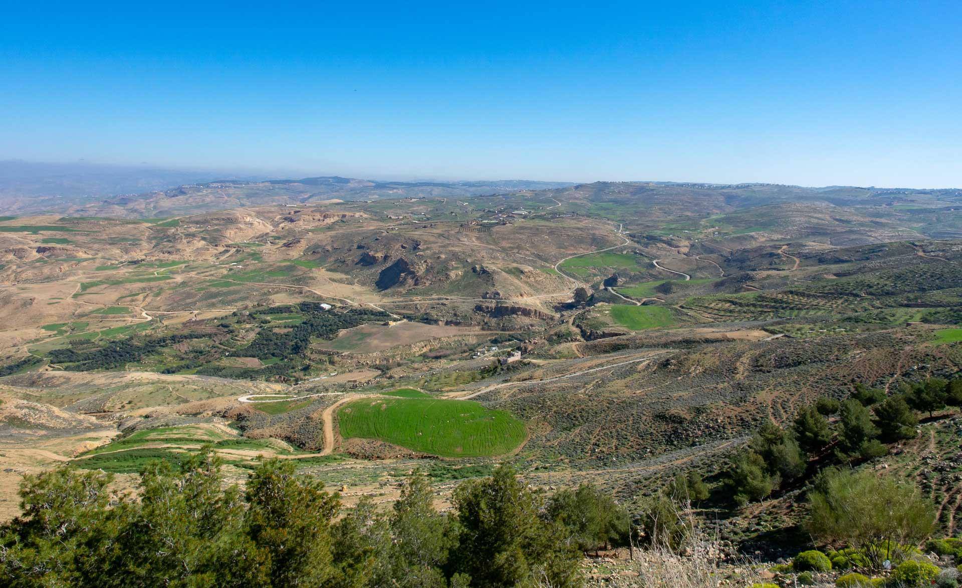Ausblick ins Jordantal vom Berg Nebo