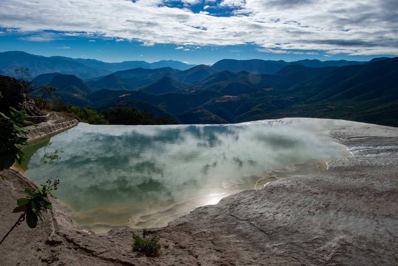Ausblick über die Berglandschaft Oaxacas