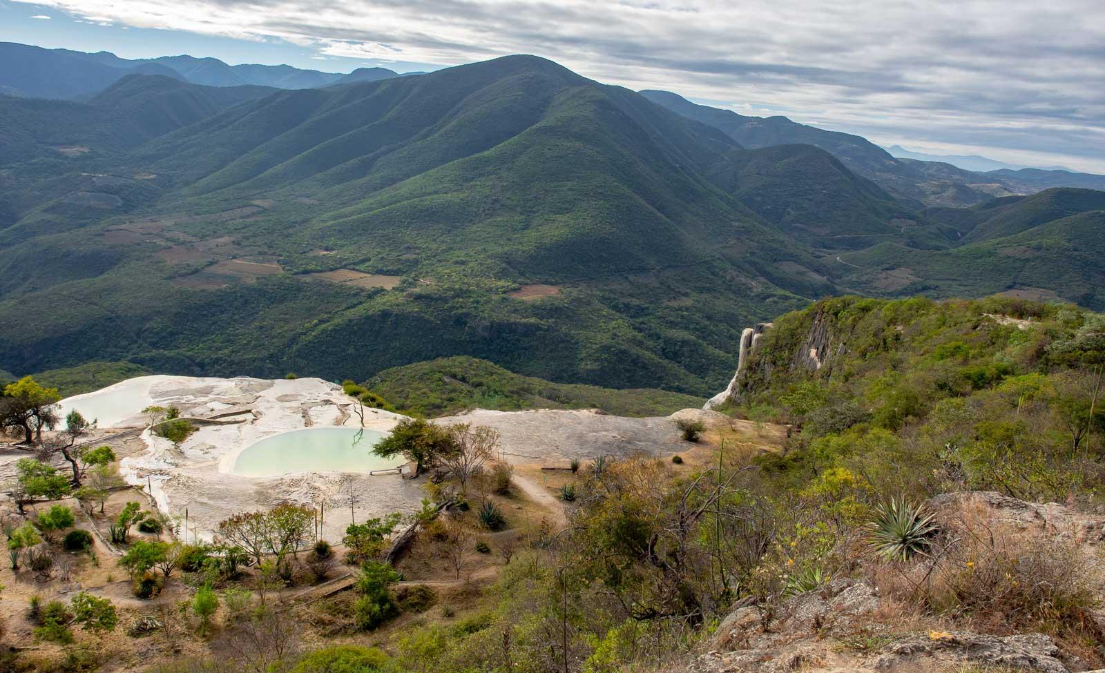 Ausblick auf die Quellen bei Hierve el Agua