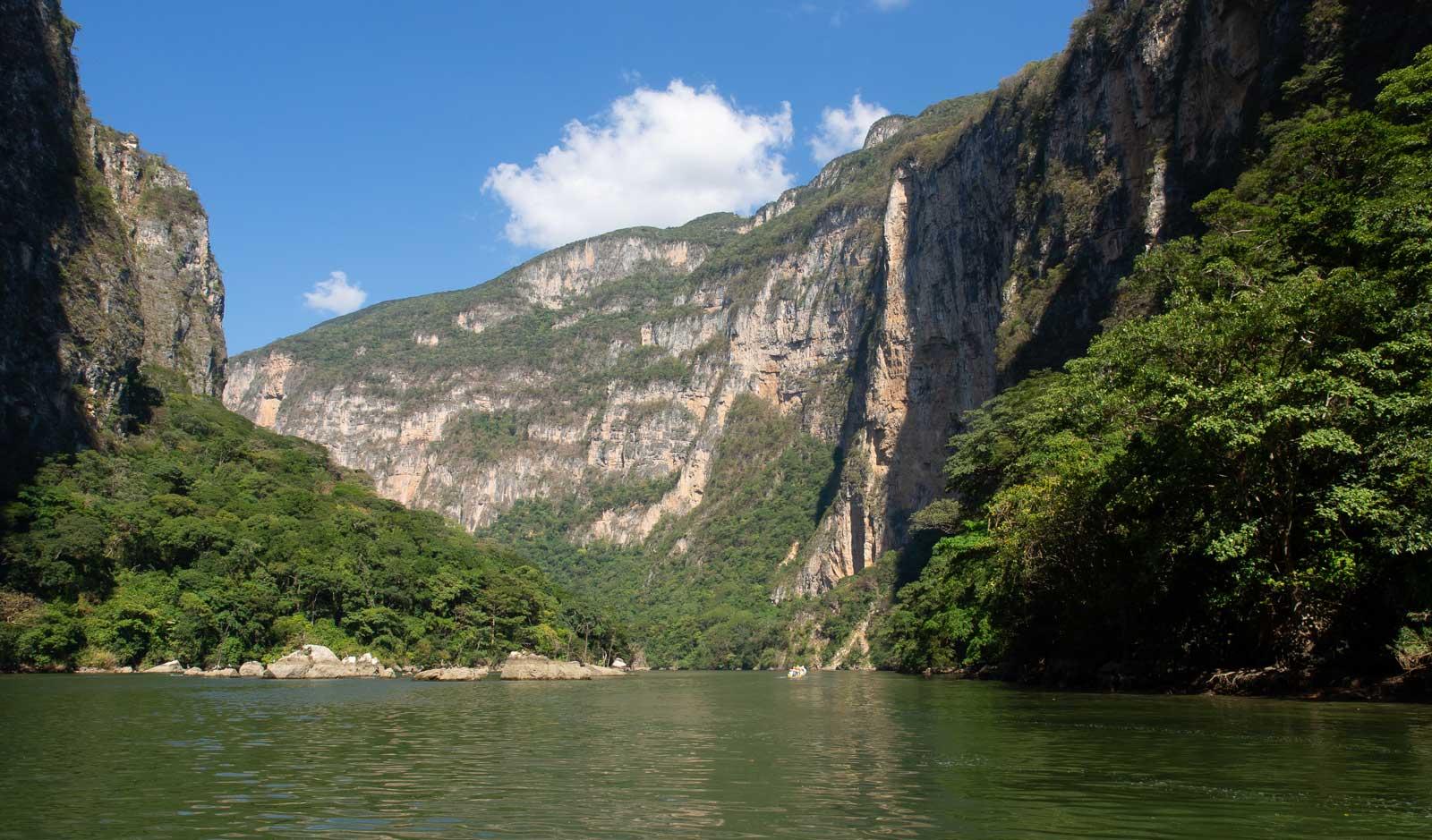 Canon del Sumidero grünes Wasser