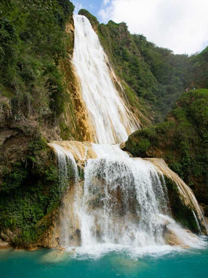Velo de Novia (Hauptwasserfall in El Chiflon)