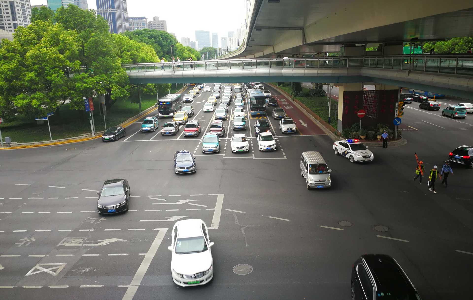 Verkehr in China mit dem Auto