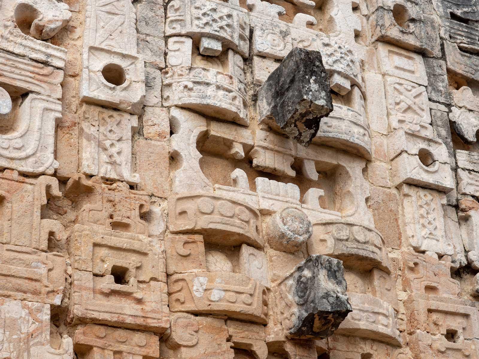 Kunstvolle Ornamente in Uxmal
