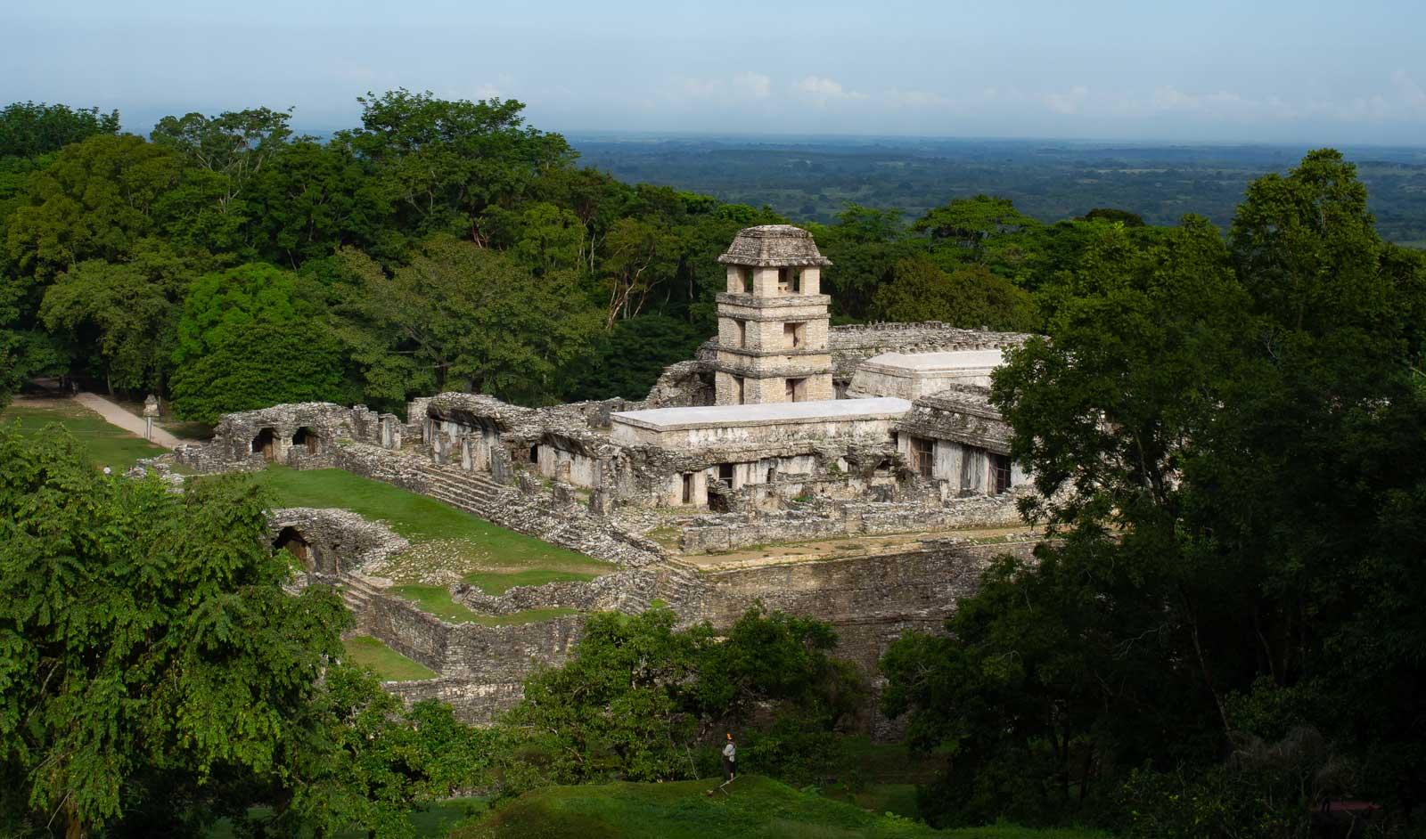 Palenque Blick auf Palast