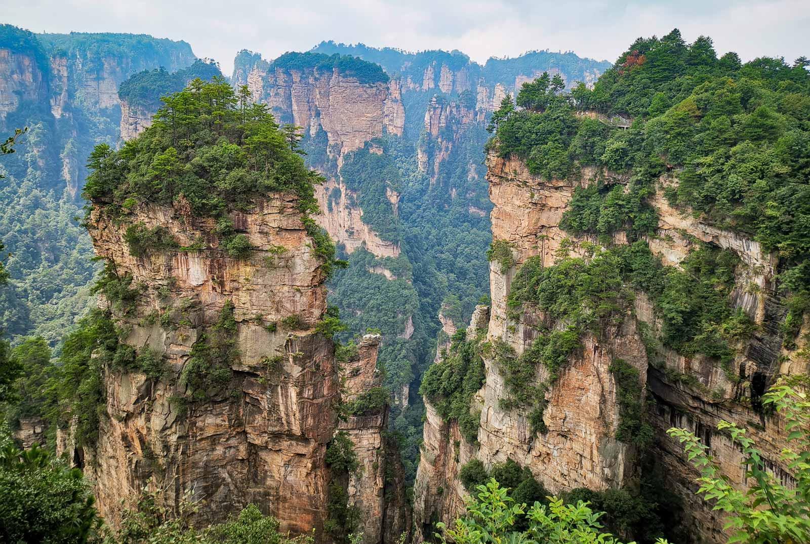 Zhangjiajie atemberaubende Landschaft