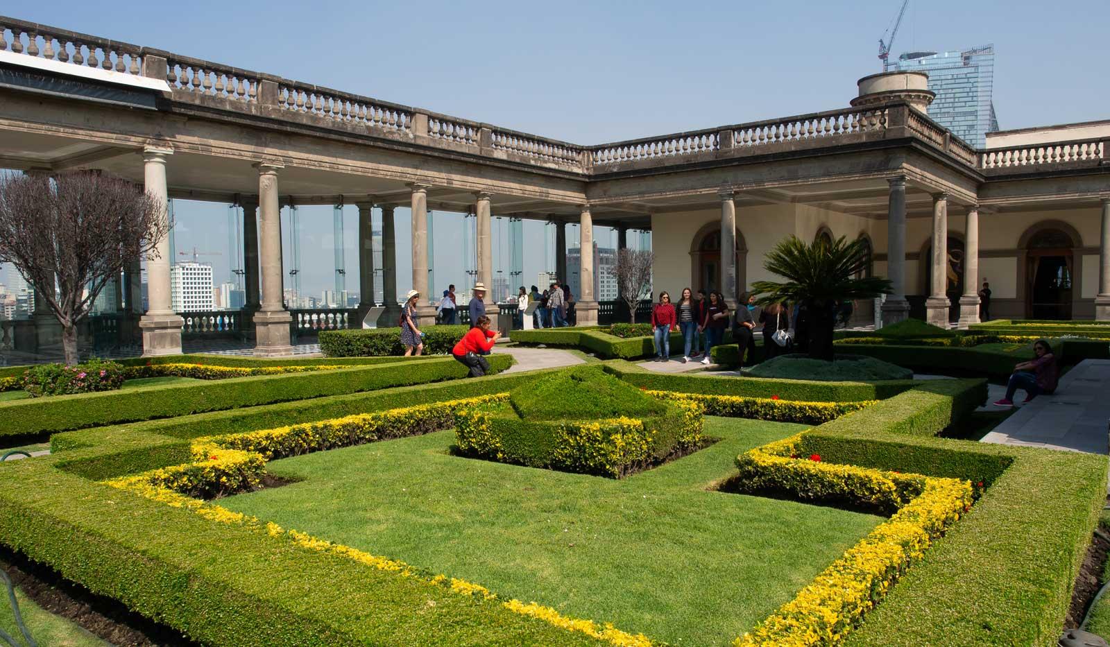 Gartenanlagen Castillo de Chapultepec