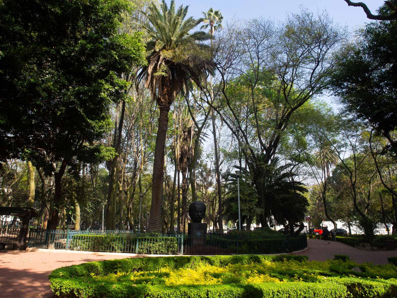 Grüne Parks in Mexiko-Stadt