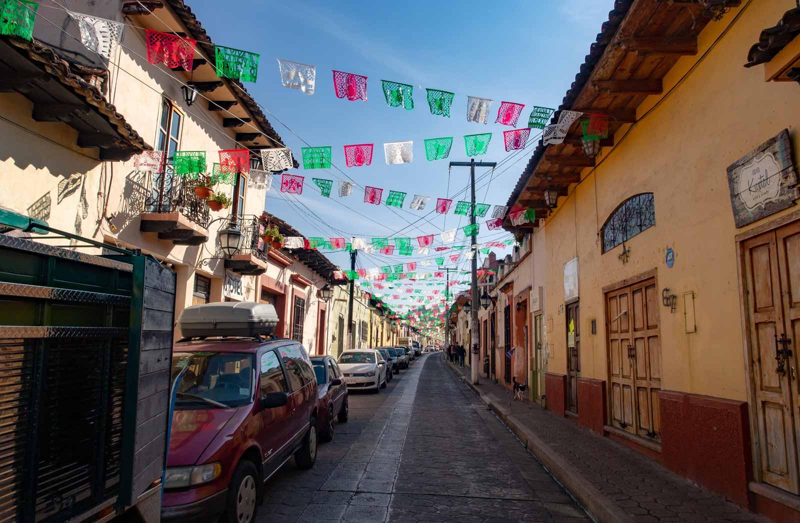San Cristóbal typische Straße