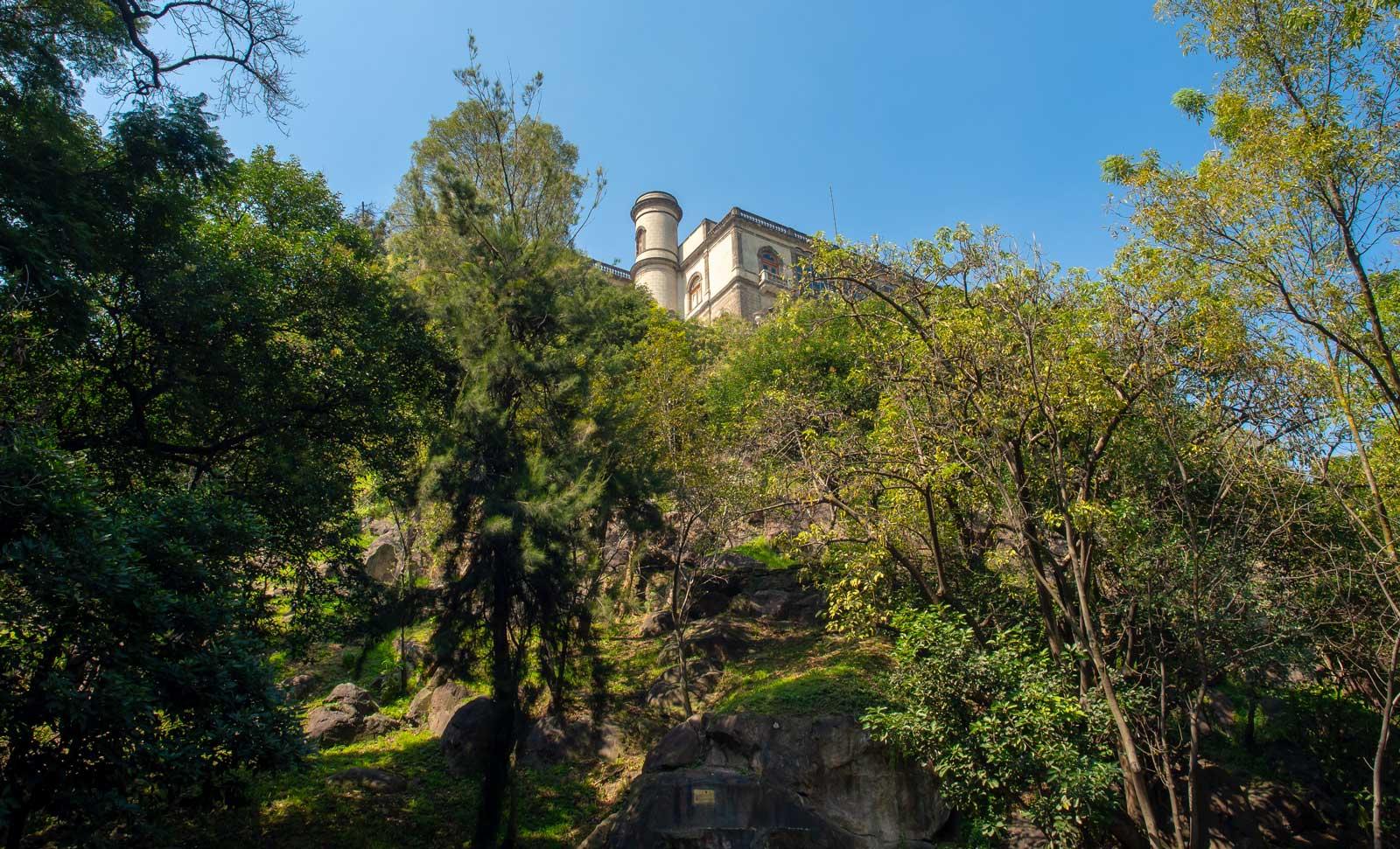 Stadtpark Chapultepec Ausblick auf Castillo